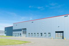 Stock Photo of large warehouse exterior
