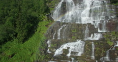 4K - Tvindefossen waterfall, Tvinde near Voss, Hordaland, Norway, Scandinavia - stock footage