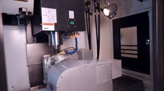 View of running milling machine in production shop Stock Footage