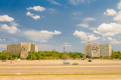 The Revolution Square or Plaza de la Revolucion in Havana, Cuba Stock Photos