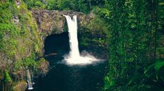 Rainbow Falls in Hilo on the Big Island of Hawaii Stock Photos