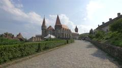 View of Corvin Castle, Hunedoara Stock Footage