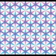 Creative star shape design pattern vector Stock Illustration