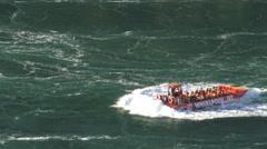 Whirlpool boat ride, Niagara Falls 2015 4k Stock Footage