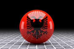 Albania flag Stock Illustration