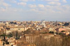 Panorama of central Rome, Italy Stock Photos