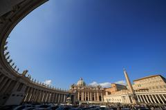 Piazza San Pietro. Vatican, Rome, Italy - stock photo