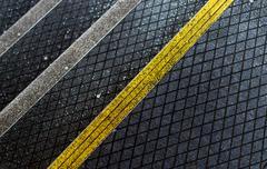 Pedestrian Asphalt Staircase with Anti-Slip Coating - stock photo