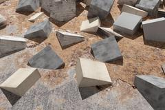 Stock Illustration of Buried cubes