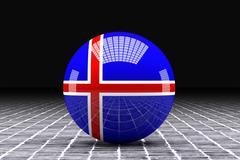 Iceland flag - stock illustration