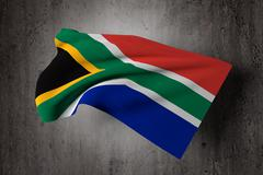 South Africa flag - stock illustration