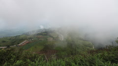 Timelapse Cloud on mountain scenery at Phu-Phang-Mah in Thailand Stock Footage
