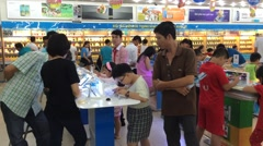 Hitech supermarket in Vungtau city Stock Footage