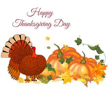 Thanksgiving Day background - stock illustration