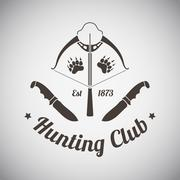 Stock Illustration of Hunting Emblem