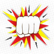 Abstract hit hand punch design  vector Stock Illustration