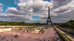 Gardens of the Trocadero 2, Paris, Time Lapse Stock Footage