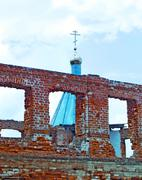 The restoration of the churches of Russia Stock Photos