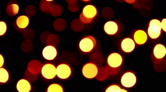 Twinkling strings with bokeh effect Stock Footage
