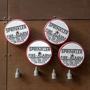 Fire alarm sprinklers - stock photo