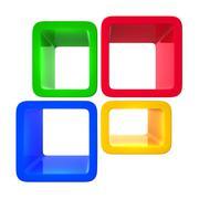 colorful showcase - stock illustration