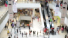 HD Format : Shopping mall pedestrian, Angle View. - stock footage