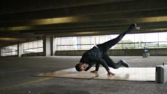 4K Male breakdancer dancing, shot on Red Epic Dragon Stock Footage