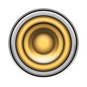 Sound-system speaker vector  illustration icon over white Stock Illustration