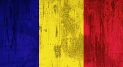 Romania flag Stock Photos