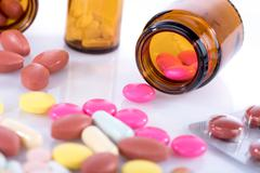 Pharmaceutical pills Stock Photos