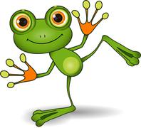Green Frog Stock Illustration