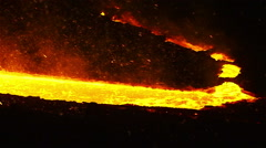 The river of molten metal Stock Footage