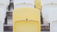 Empty bleachers at the stadium. - stock footage