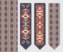 Stock Illustration of decorative ethnic paisley two bookmark for printing