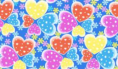 Seamless candy color hearts pattern, Valentines day concept Stock Illustration