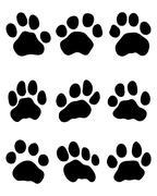 tiger paw - stock illustration