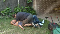 Recovery position Stock Footage