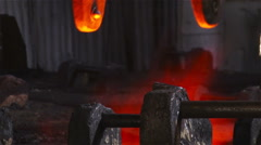 Hot steel pouring in steel plant Stock Footage