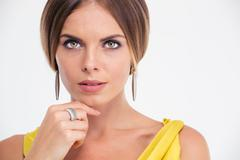 Beauty portrait of a fashion model - stock photo