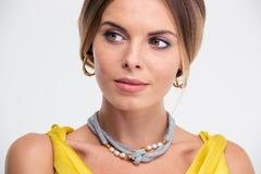 Beauty portrait of a fashion female model - stock photo