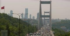 Bosphorus Bridge in Istanbul, Turkey Stock Footage