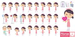 Stock Illustration of Nurse cartoon poses