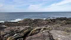 Fraserburgh coast time lapse Stock Footage