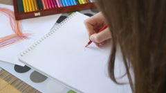 Girl Drawing a Heart - stock footage