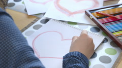 Stock Video Footage of Girl Drawing a Heart
