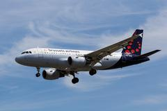 Brussels Airlines Airbus A319 - stock photo