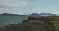 Scenic Arctic Mountains in Svalbard - stock footage