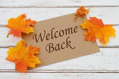 Welcome Back Card - stock photo