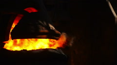 Purging metal oxygen. Slow Motion Stock Footage