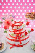 Dessert table with sweet  cake pops Stock Photos